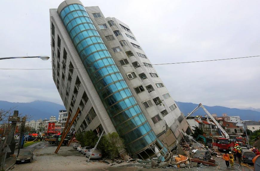 Il terremoto che ha colpito Hualien