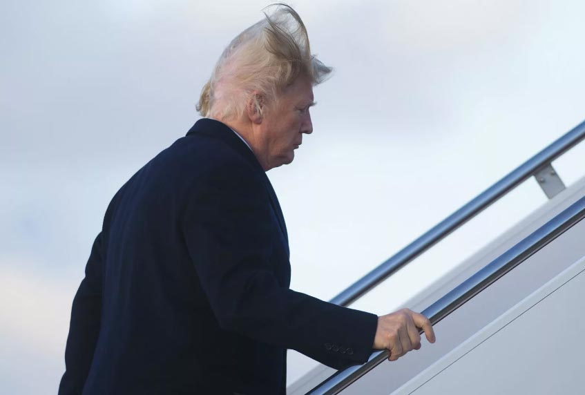 Donald Trump su l'Air Force One