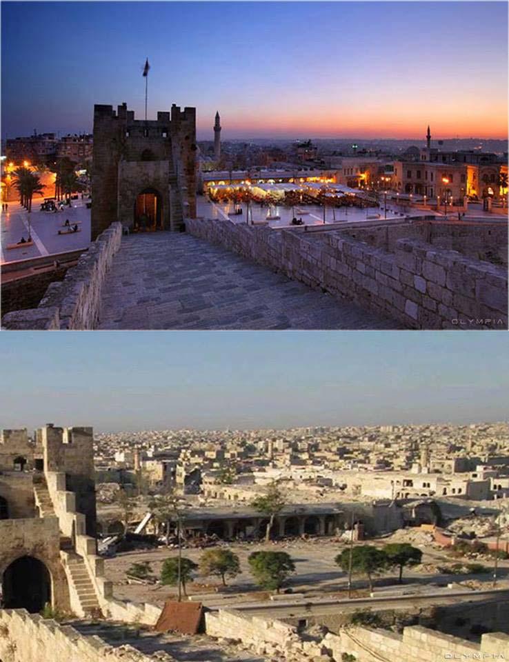 Caffè e il cortile della Cittadella di Aleppo