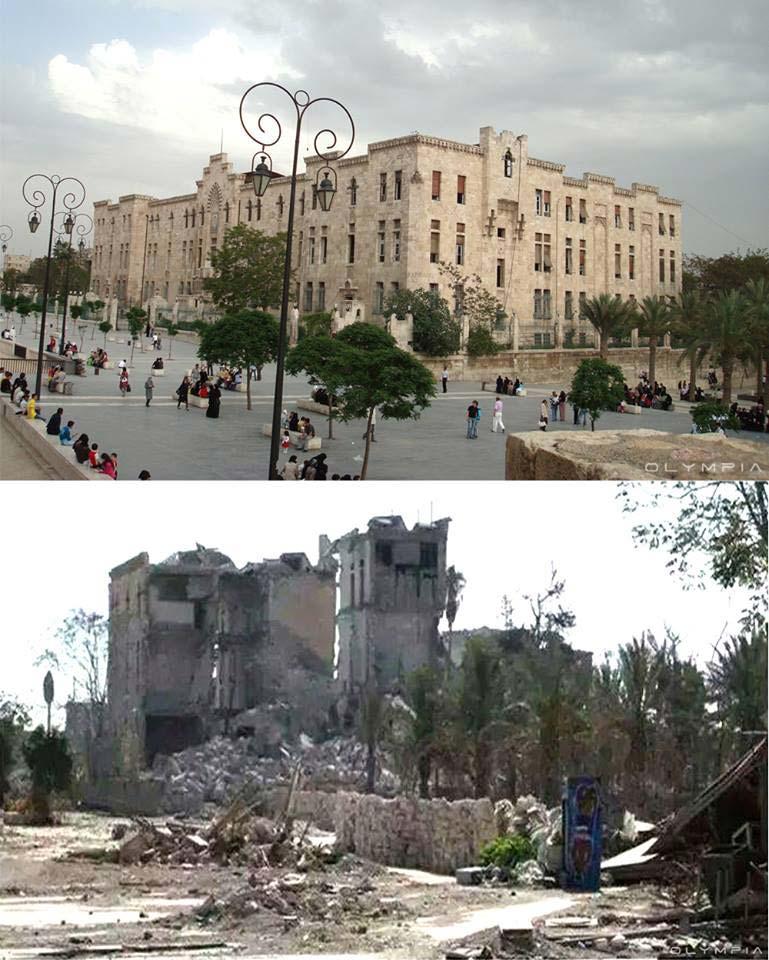 Costruzione archeologica della vecchia cittadella di Aleppo