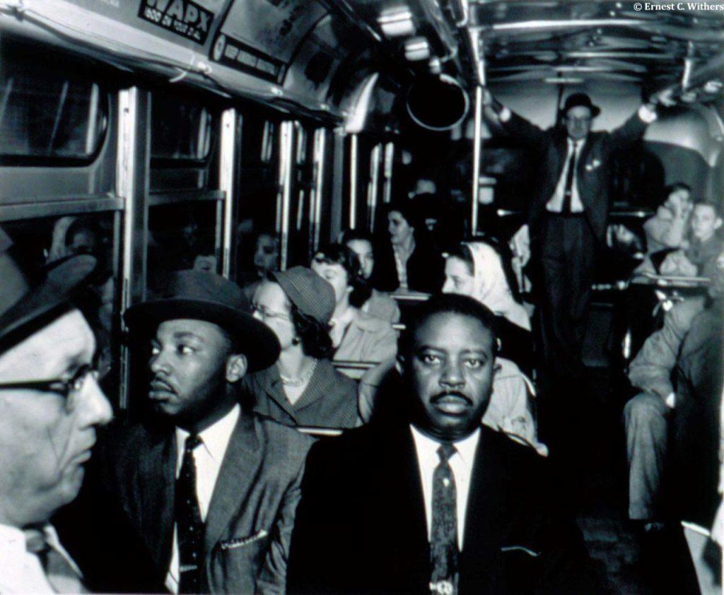 King viaggia per la prima volta in autobus a Montgomery, Alabama