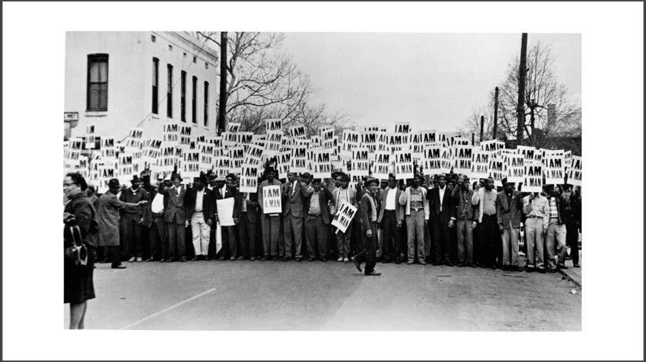 Manifestazione di lavoratori, l'immagine piu famosa di Ernest Withers