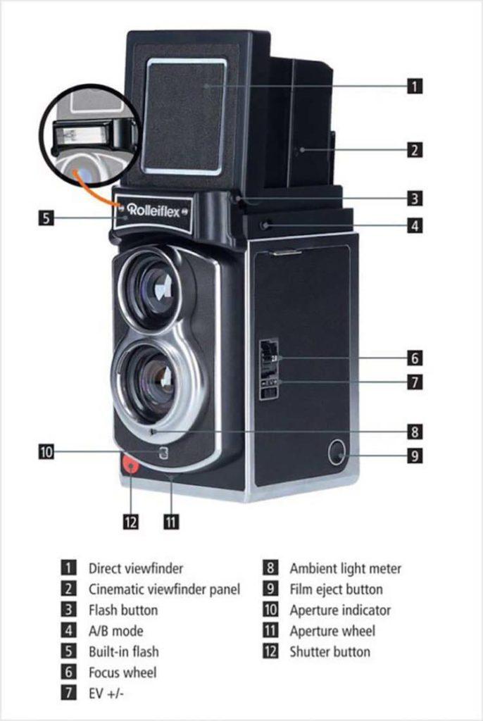 Rolleiflex Instant Kamera caratteristiche