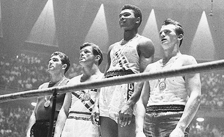 Cassius Clay medaglia d'oro a Roma 1960