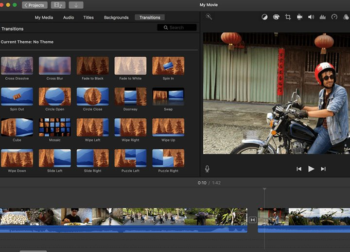 Miglior programma per creare video: iMovie