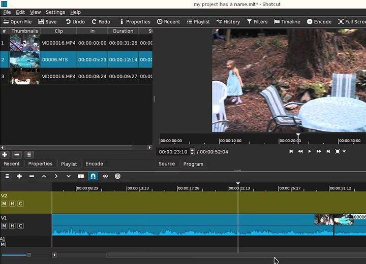 Miglior programma per creare video: Shotcut