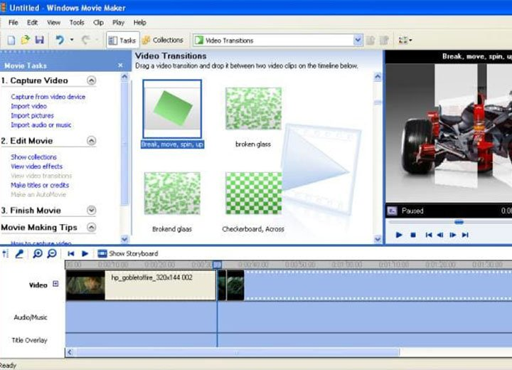 Miglior programma per creare video: Windows Media Maker