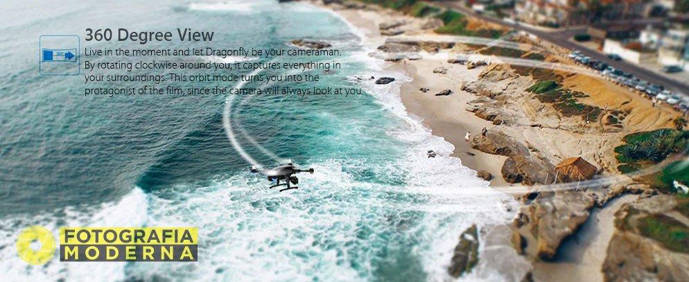 Le varie modalità di ripresa del drone Simtoo Dragonfly Pro