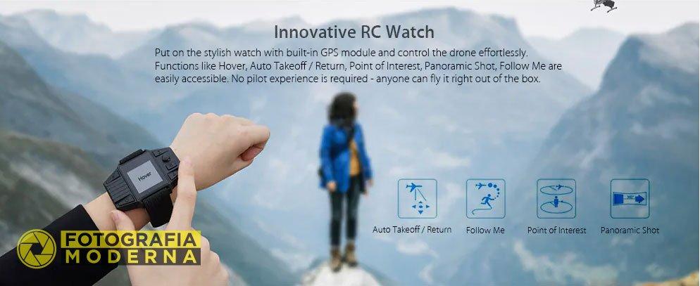 L'orologio telecomando per comandare il drone Simtoo Dragonfly Pro