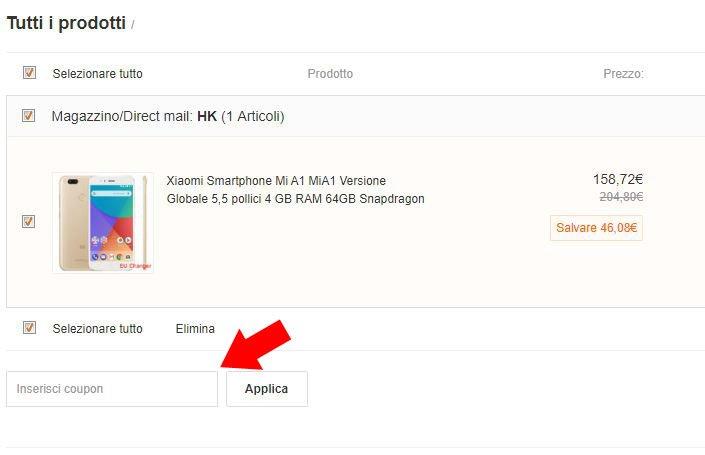 Xiaomi Mi A1 Coupon