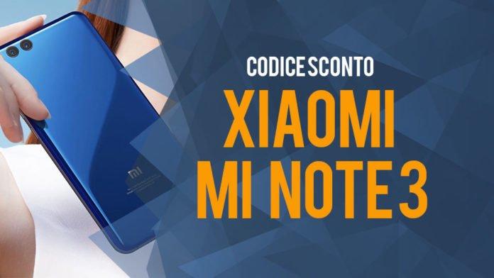 Coupon Xiaomi Mi Note 3: Il nostro codice sconto