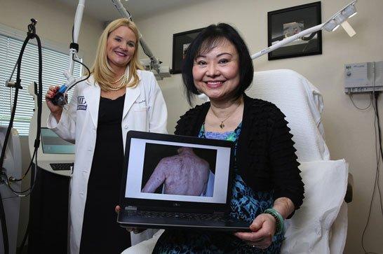 Kim e la dottoressa Jill Waibel a Miami