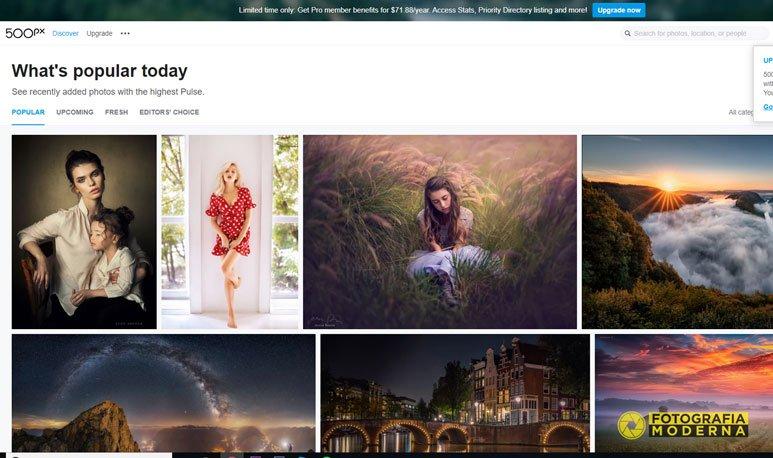 Migliori social network per fotografi: 500Px