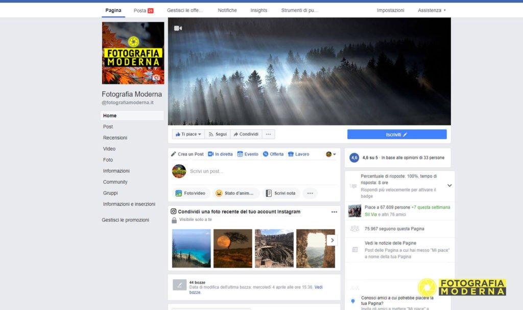 Migliori social network per fotografi: Facebook