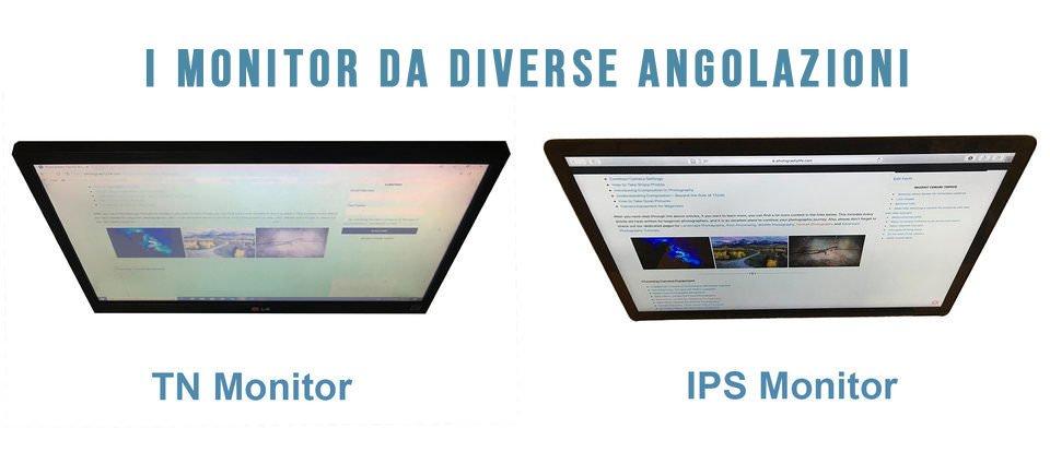 Differenze tra monitor TN e IPS
