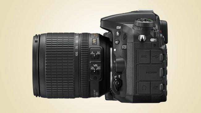 Design della fotocamera D7200
