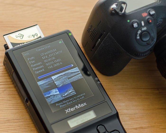 Dispositivo di Backup per le schede di memoria  XQD