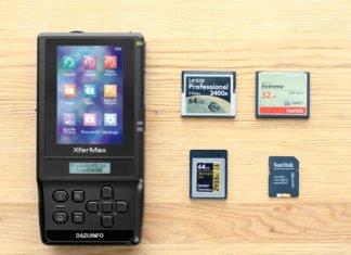 Backup per le schede di memoria XQD con il dispositivo Xfer Max di Dazuinfo