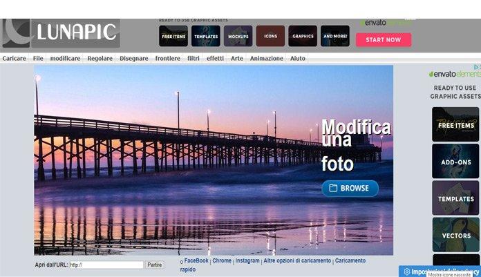 Scontornare foto da browser con Lunapic