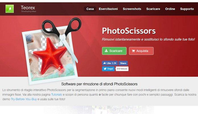 Photoscissors: Il miglior programma per scontornare foto online
