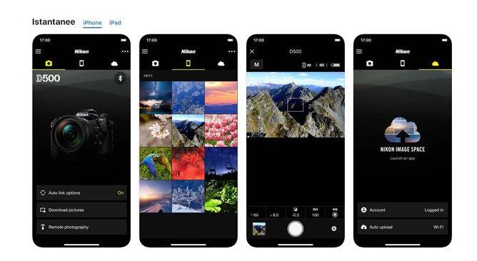 Scaricare l'applicazione Snabridge di Nikon da Playstore o Itunes