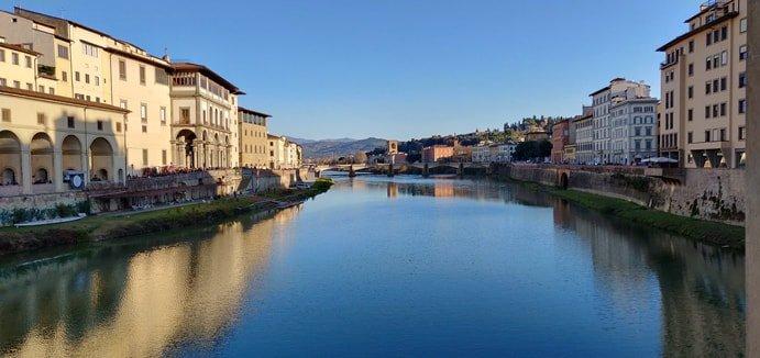 Foto del ponte vecchio di Firenze con il Oneplus 6