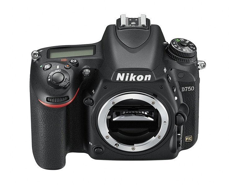 Il menu visto dall'alto della Nikon D750