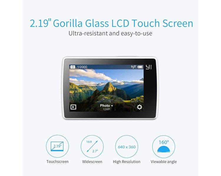 Lo schermo LCD resistente della Xiaomi Yi 4K