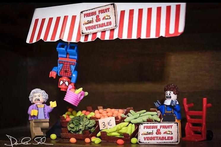 Spider Man in un'avventura nella Lego Photography di Daniele Sala