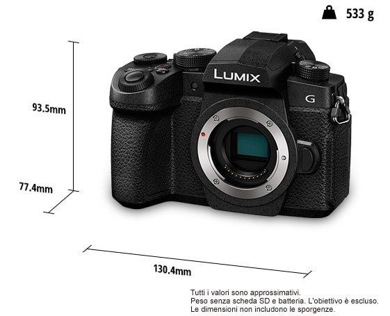 Peso e dimensioni della Lumix G90