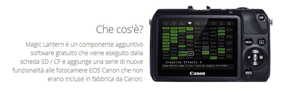 Come funziona Magic Lantern