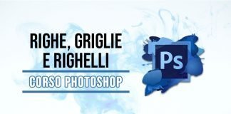Righe, griglie e righelli di Photoshop