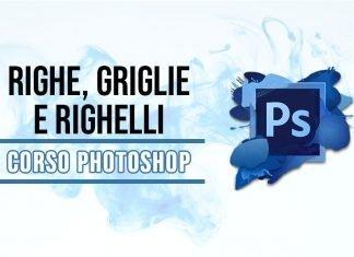 Righe, griglie e righelli di Photoshop