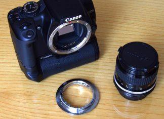 Adattatore Obiettivi Nikon su Canon