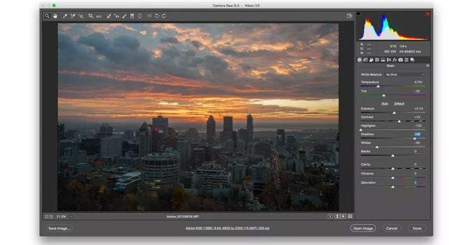 Plugin di Photoshop Camera Raw