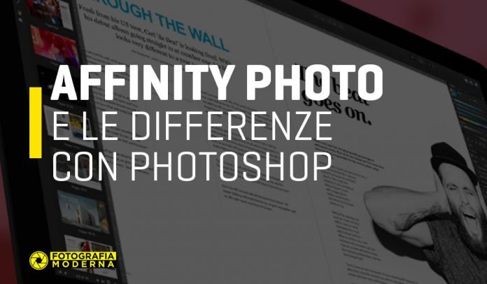 Affinity Photo e le differenze con Photoshop