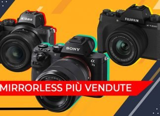 Le mirrorless più vendute
