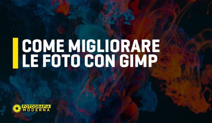 Come migliorare le foto con Gimp