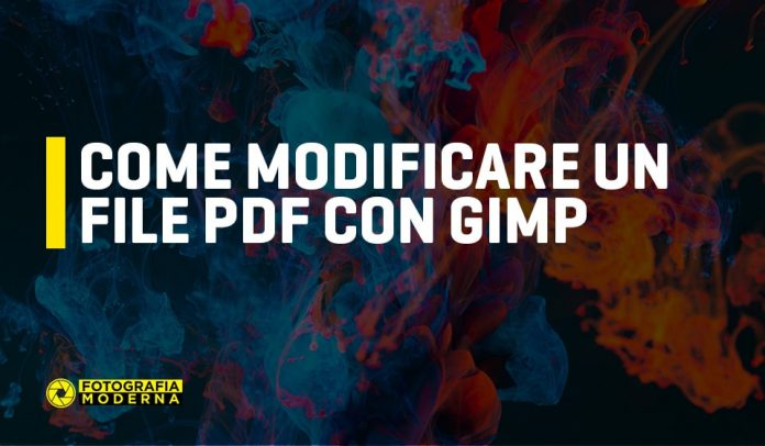 come modificare file pdf con gimp
