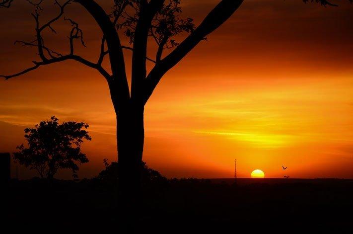 Foto del tramonto