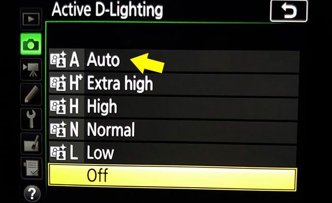 Active D-Lighting Nikon