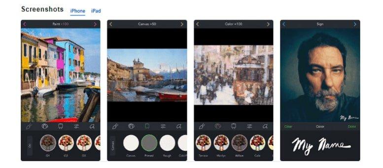 App per trasformare foto in dipinti: Brushstroke