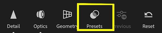 Come utilizzare i preset Lightroom Mobile