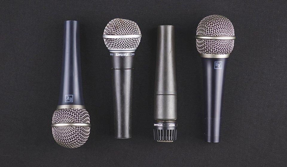 Tipi di microfono diversi