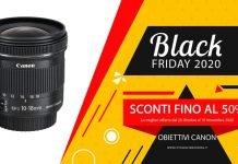 Black Friday Obiettivi Canon