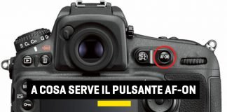 A cosa serve il pulsante AF-ON