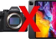 Sony A7RIV e Apple iPad PRO