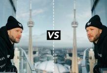 Confronto tra iPhone 12 Pro Max e una Canon EOS R5