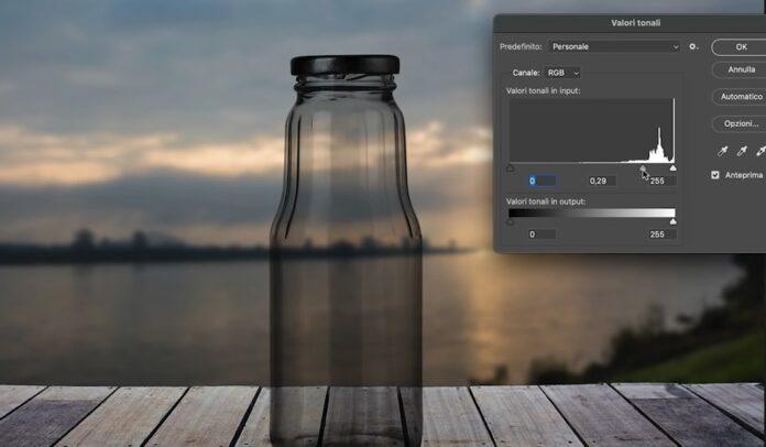 Come scontornare il vetro con Photoshop